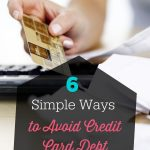 Ways to Avoid Credit Card Debt