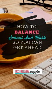 Know how to balance school