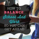 how to balance school
