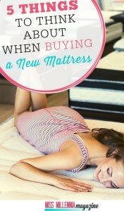 Think when buying new mattress
