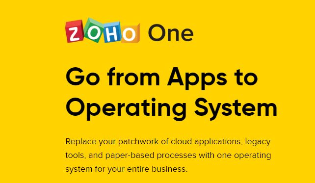 Zoho One is a great tool if you run a small business