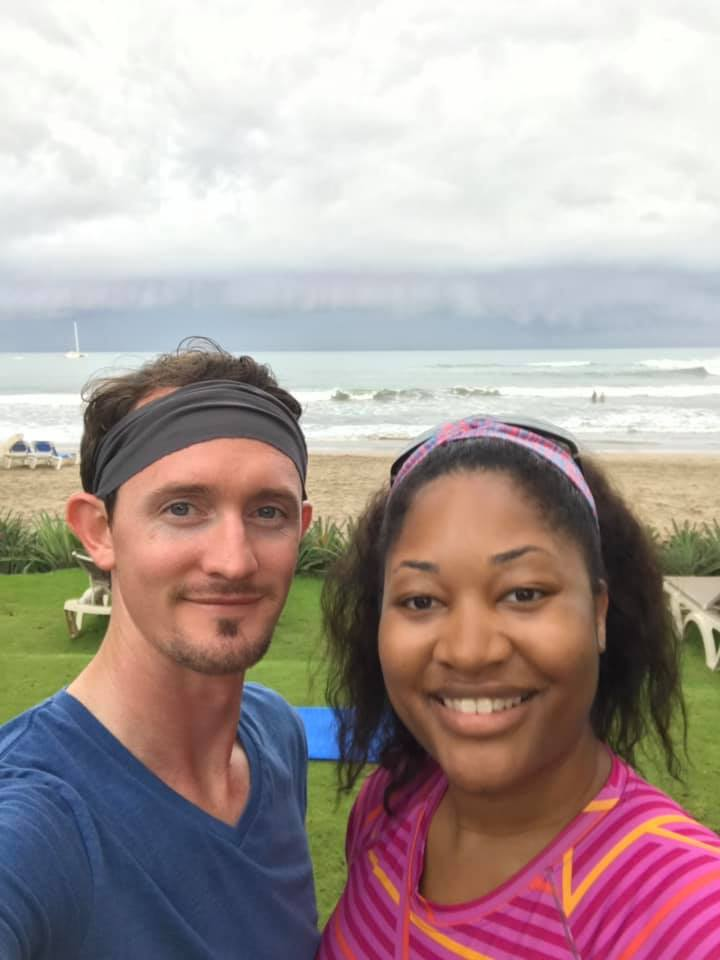 two people traveling in costa rica