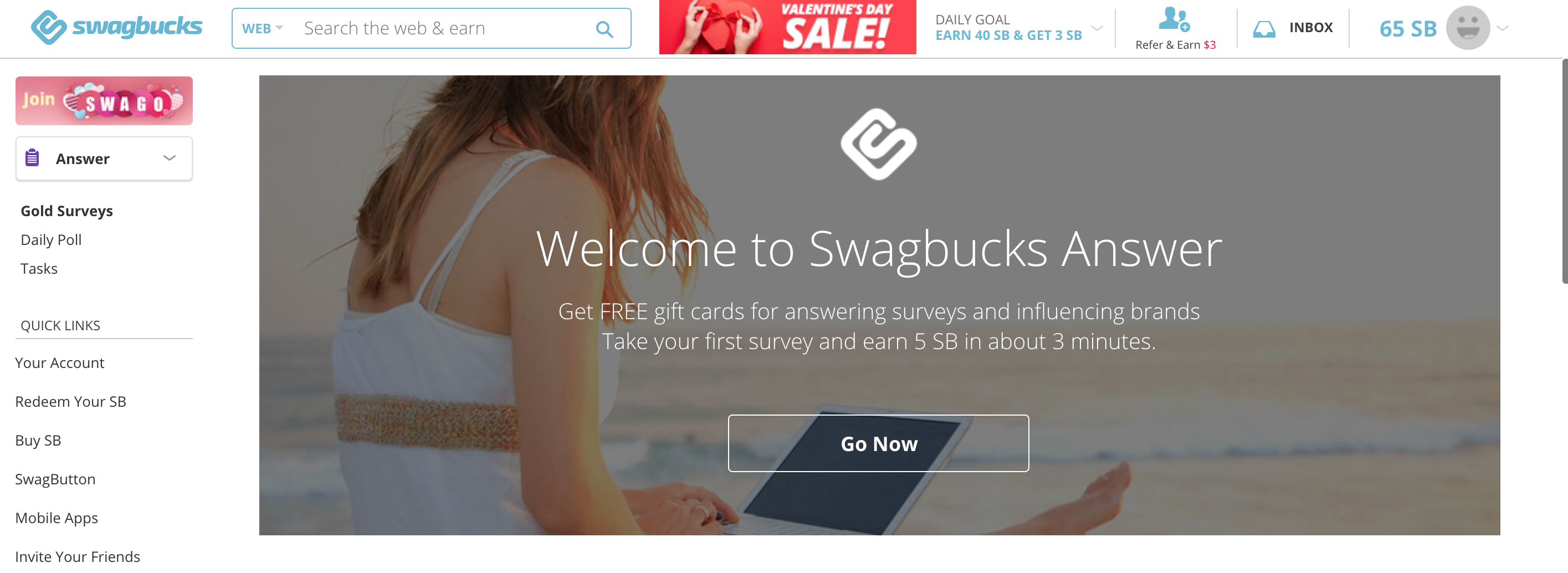 welcome to swagbucks answer