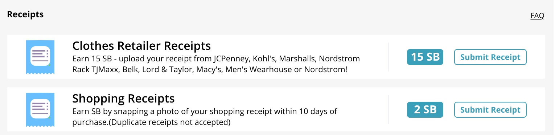 upload receipts