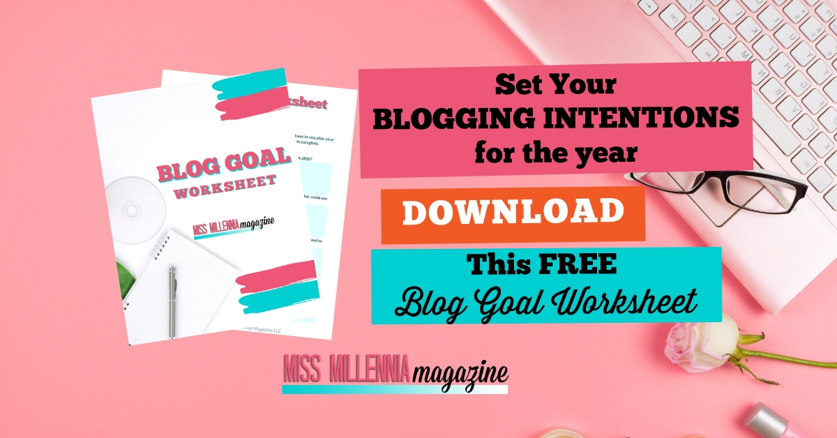 Blog Goal Worksheet - A great way for bloggers to start making money blogging