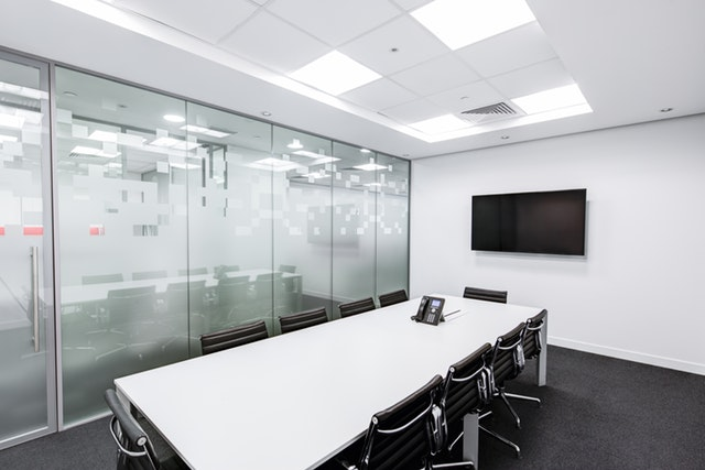 clean spacious conference room