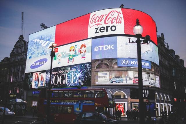 Red Coca Cola Zero Signage ad