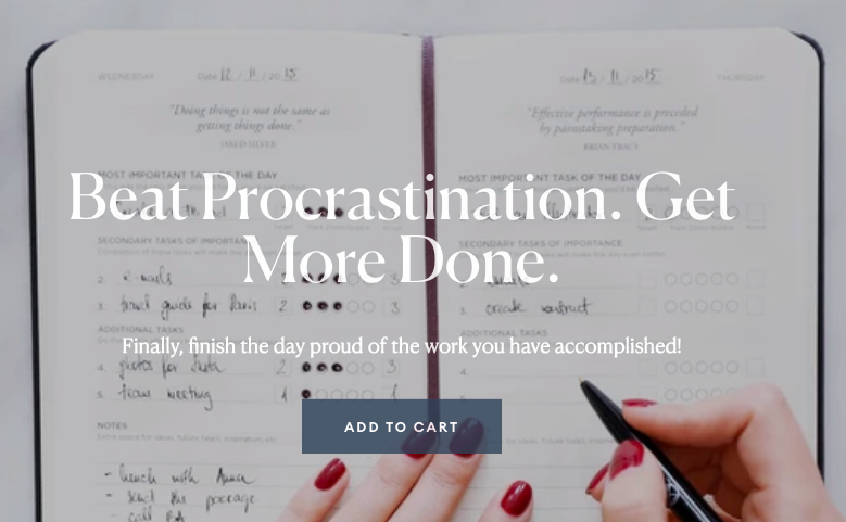 Beat Procrastination. Get More Done. Productivity Planner