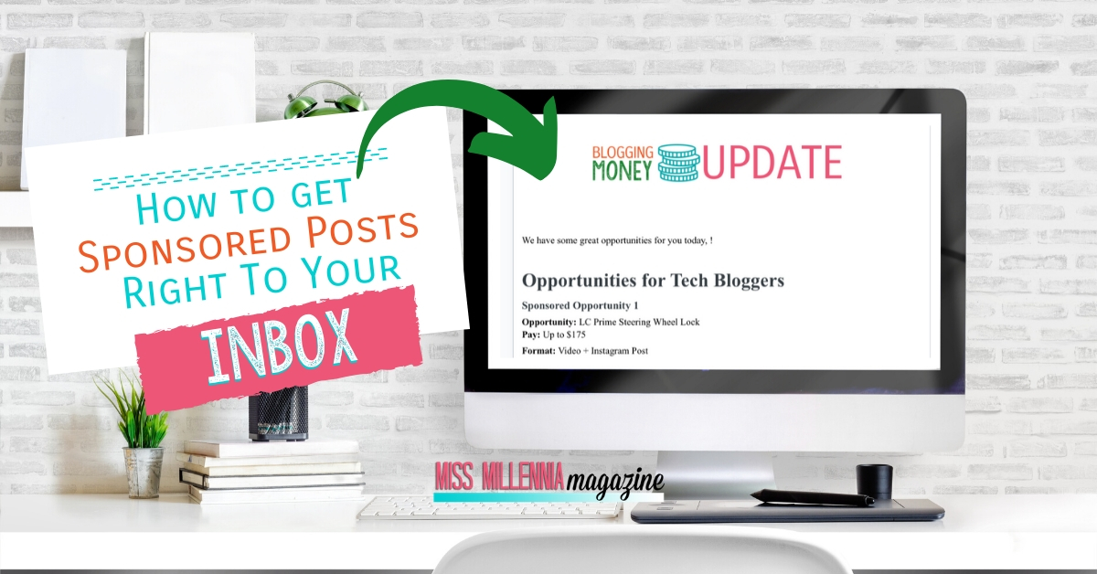 how to get sponsored posts right to your inbox with blogging money update