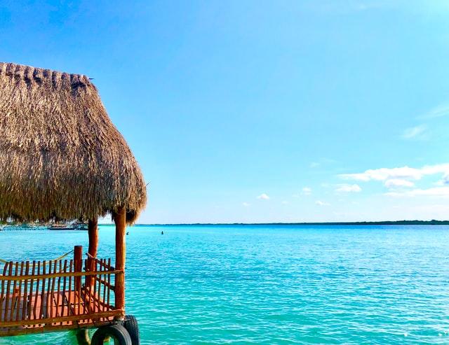 Blue lagoon, Bacalar, Mexico