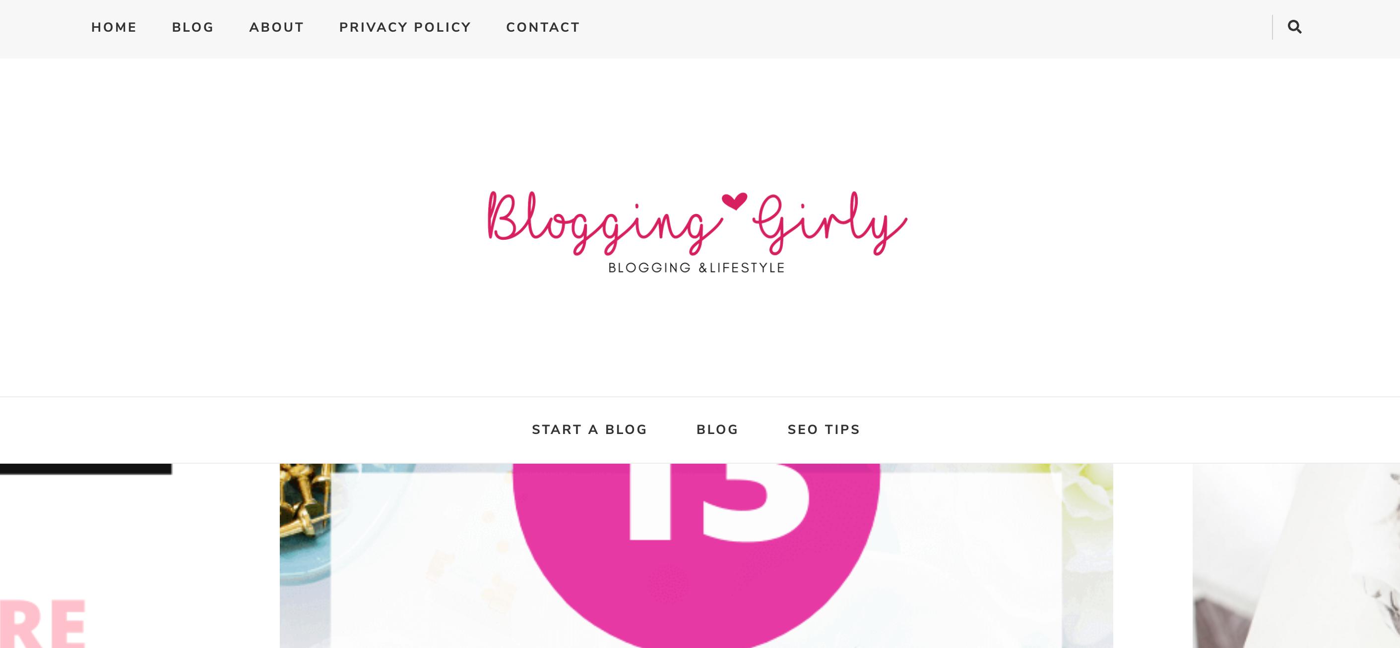 Blogging Girly