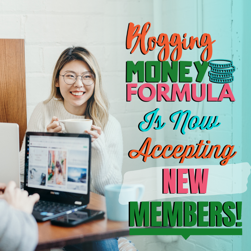 Blogging Money Formula is now accepting new members!