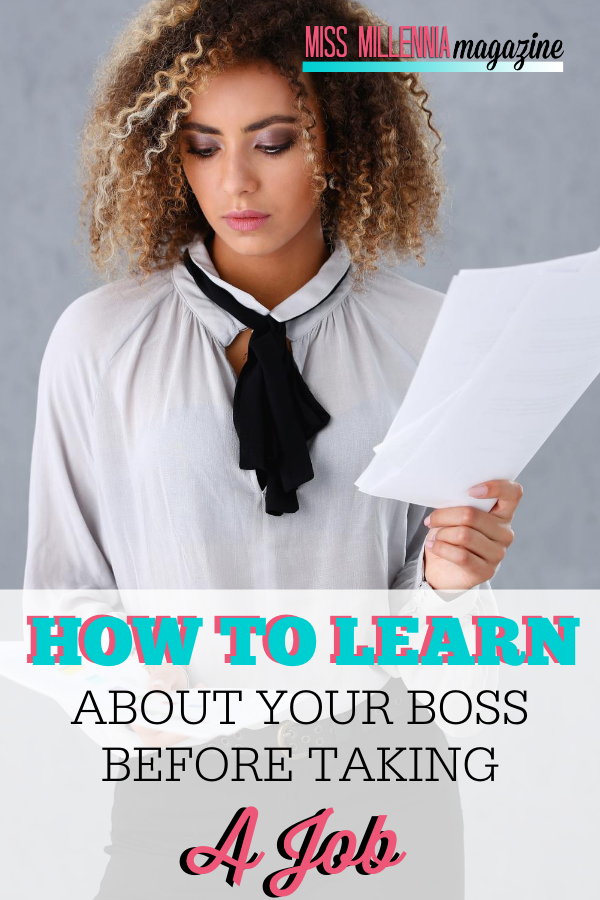 How To Learn About Your Boss Before Taking A Job