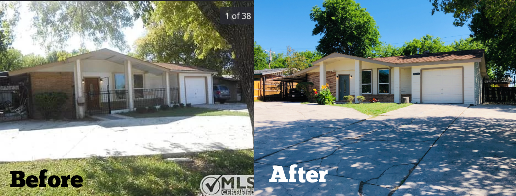 before and after rental property