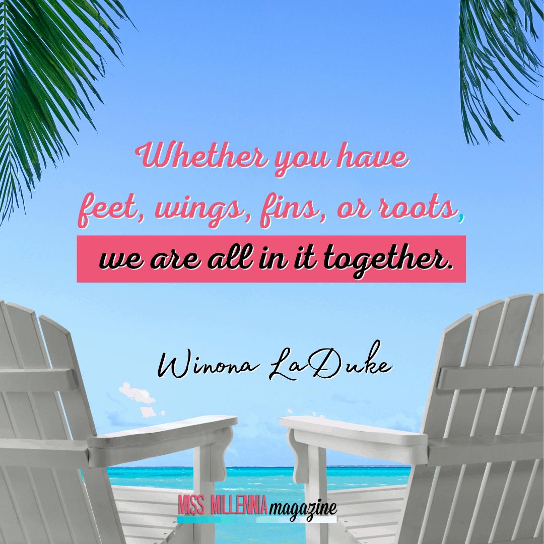 Winona LaDuke social justice quotes