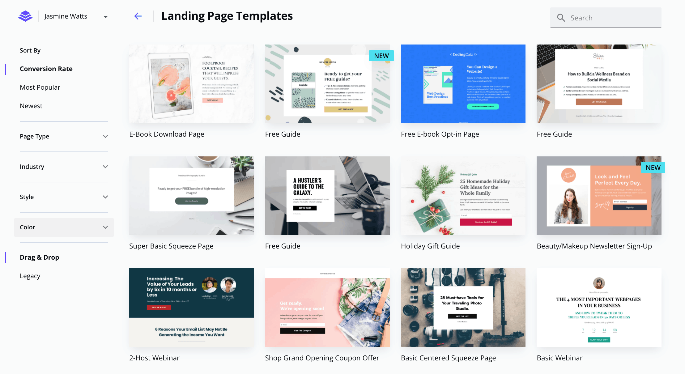 Leadpages landing page templates - ConvertKit vs LeadPages