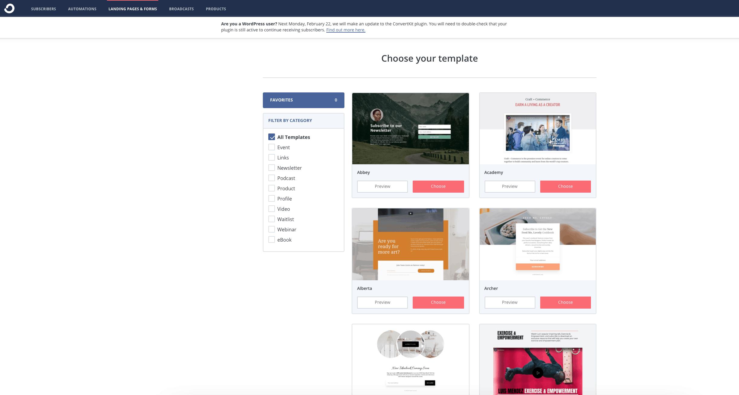 Convertkit landing page templates - ConvertKit vs LeadPages