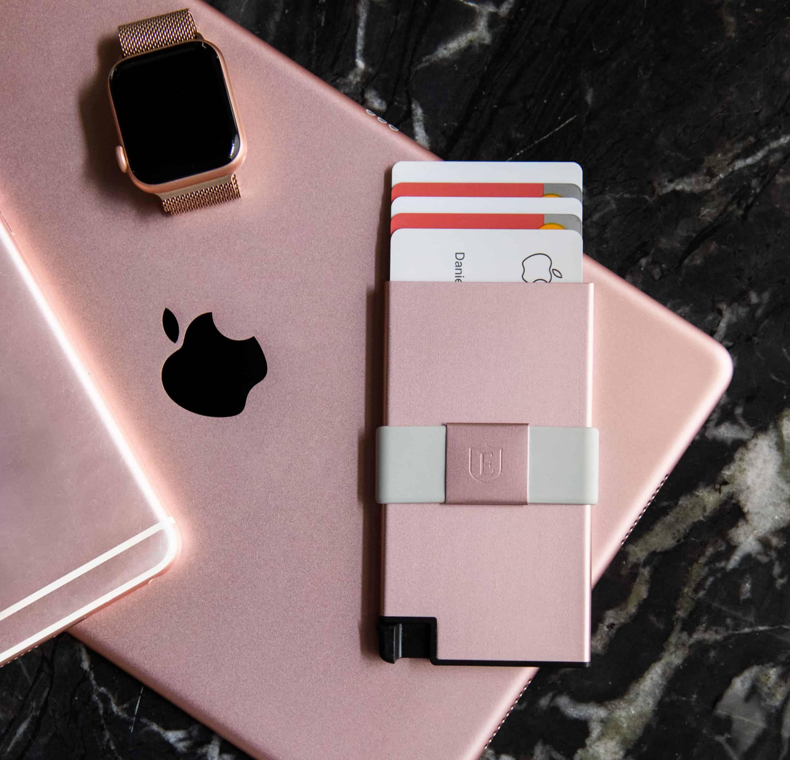 ekster's rose gold wallet
